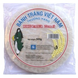 RICE PAPER (WRAPPERS) ROUND 22cm 500g HS