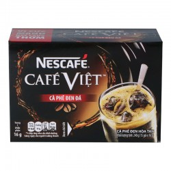 VIỆT BLACK COFFEE BASED FLAVOURED DRINK, WITH SUGAR AND SWEETENER. (15 X 16G) 240g NESTLÉ CAFÉ