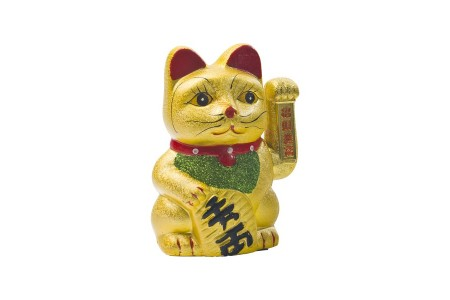 CERAMIC WAVING CAT 17.5 cm NON FOOD