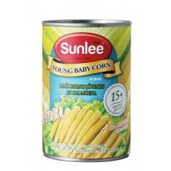 YOUNG BABY CORN (15-16pc) 420g SUN LEE