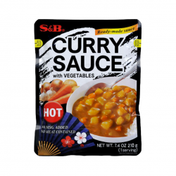 CURRY SAUCE WITH VEGETABLES (HOT) 230g  S&B