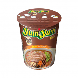 INSTANT CUP NOODLE SOUP BEEF 70g YUM YUM