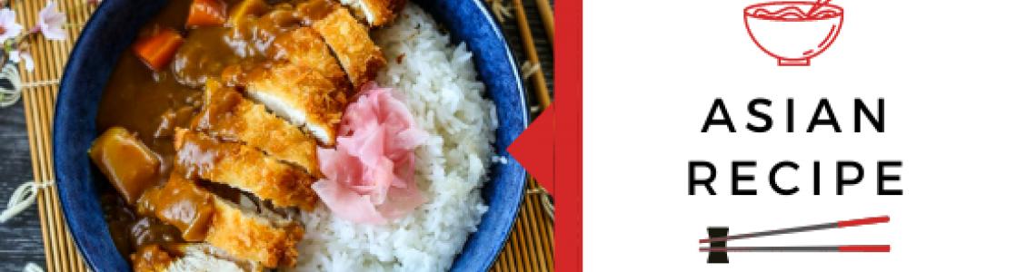 Σνίτσελ κοτόπουλο με ρύζι και σάλτσα curry με λαχανικά