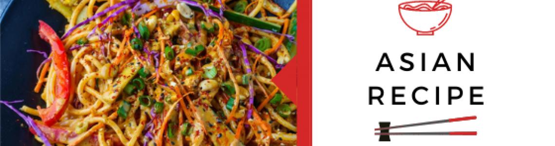 Κρύα noodles με λαχανικά, αυγό και sesame dressing!