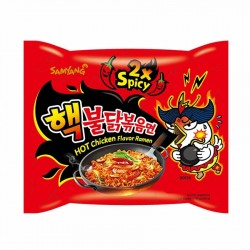 INSTANT RAMEN NOODLES SPICY HOT(2x) CHICKEN 140g SAM YANG
