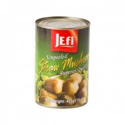 STRAW MUSHROOMS UNPEELED 425g JEFI
