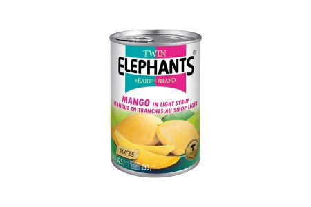 MANGO SLICES IN SYRUP 425g TWIN ELEPHANTS
