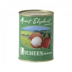 LYCHEES IN LIGHT SYRUP 567g MOUNT ELEPHANT