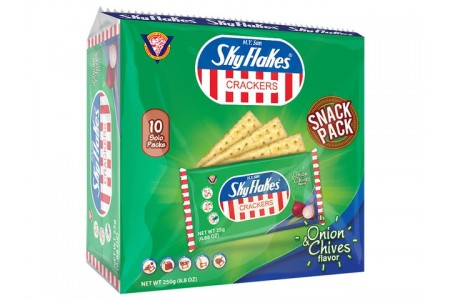 SKY FLAKES CRACKERS ONION & CHIVES 250g Μ.Υ. SAN