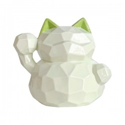 LUCKY CAT 10CM (GREEN), 1 PC/ST  NONFOOD