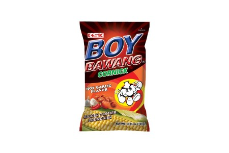 CORN SNACK & HOT GARLIC 100g BOY BAWANG