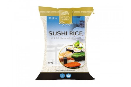 SUSHI RICE 10kg GOLDEN TURTLE CHEF