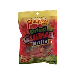 GUAVA FRUIT BALLS DRIED 100g PHILIPPINE
