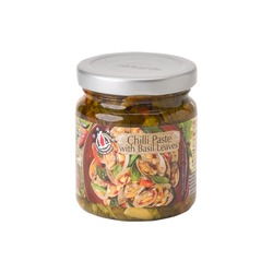 CHILI PASTE & BASIL LEAVES 180g FLYING GOOSE