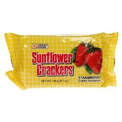 CRACKER STRABERRY CREAM 190g SUNFLOWER