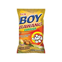 CORN SNACK CHILI & CHEESE FLAVOR 100g BOY BAWANG