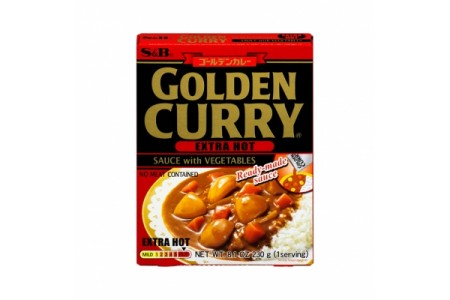 CURRY VEGETABLES EXTRA HOT 230g S&B