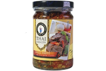 CHILLI PASTE & HOLY BASIL LEAVES 200g THAI DANCER
