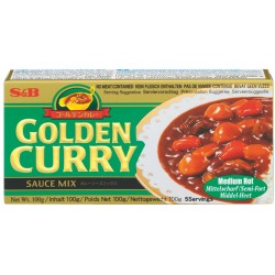 GOLDEN CURRY SAUCE MIX MEDIUM 92g S&B