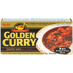 GOLDEN CURRY SAUCE MIX HOT 92g S&B